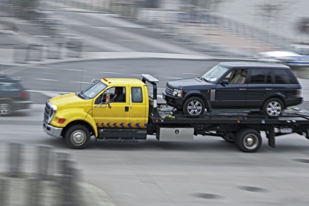 Эвакуация полноприводного авто